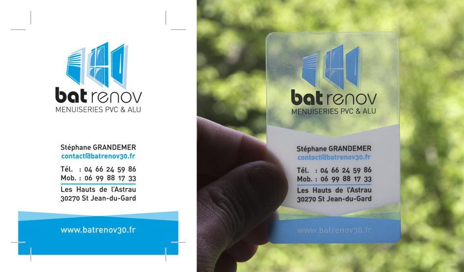 Carte de visite transparente de Bat renov