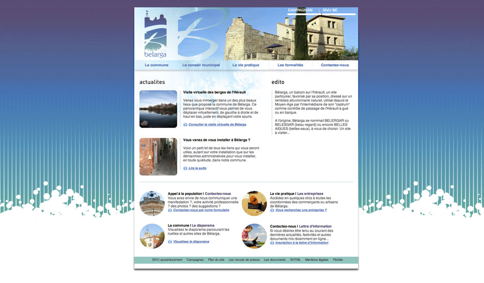 Site internet de la ville de Bélarga