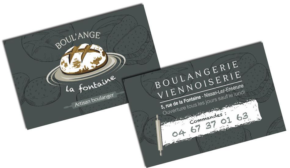 Carte de visite de Boul'ange la Fontaine