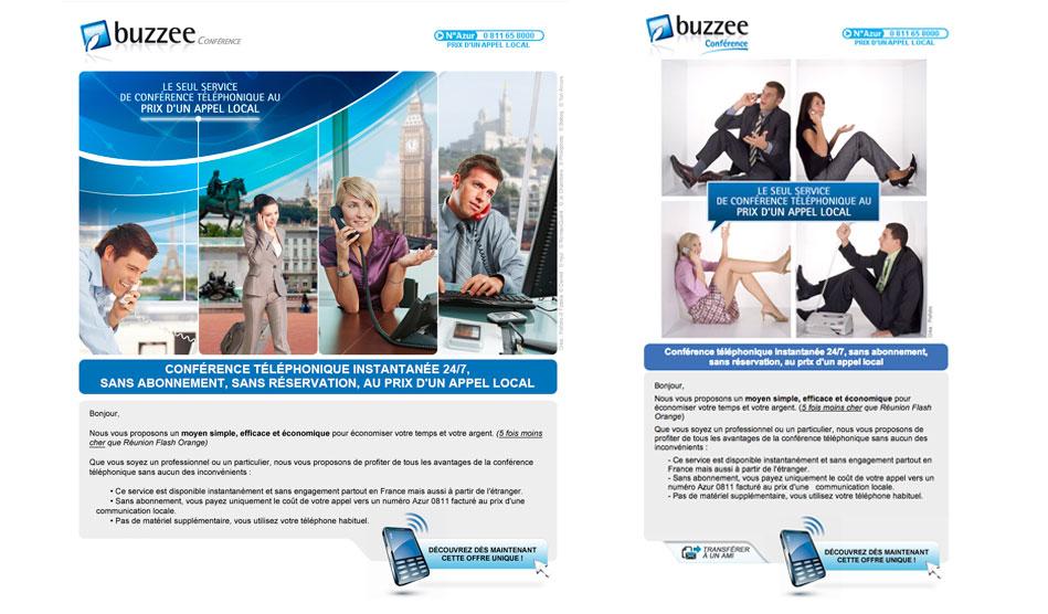 Emailing téléphonie de Buzzee
