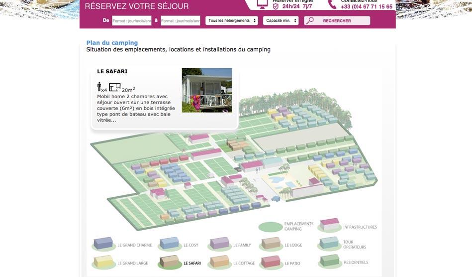 Plan interactif du Camping Bon Port
