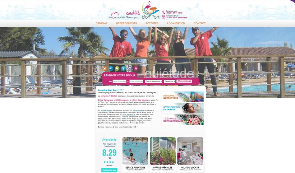 Site internet du Camping Bon Port