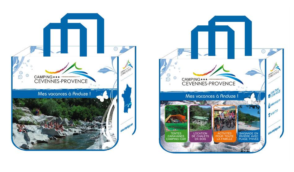 Camping Cévennes-Provence sac publicitaire