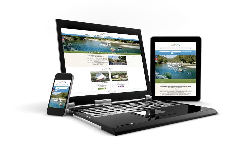 Camping Cévennes-Provence site internet en responsive