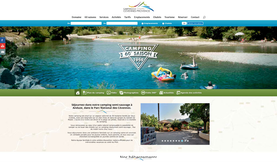 Camping Cévennes-Provence site internet