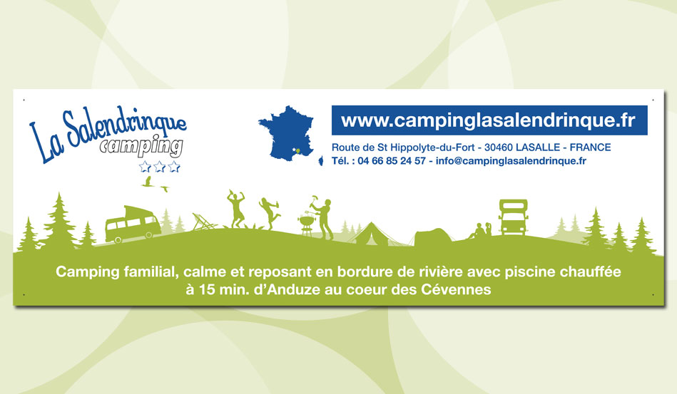 Banderole du Camping La Salendrinque