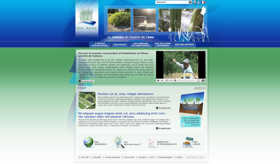 Site internet d'Epur Nature