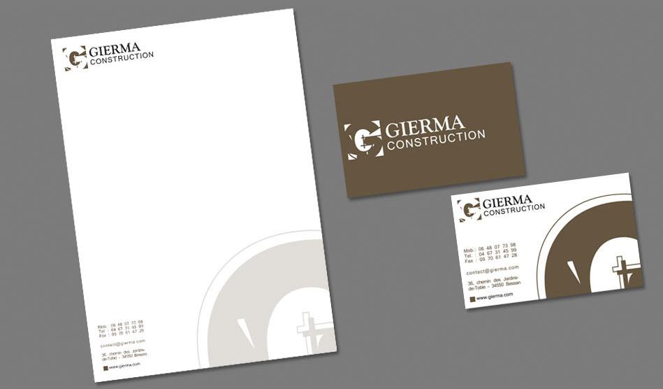 Entête et cartes de visite de Gierma