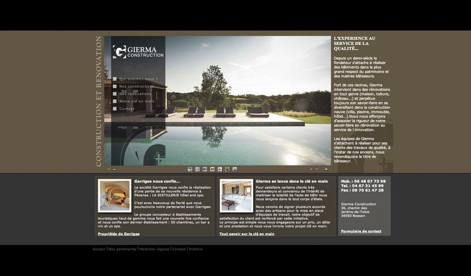 Site internet de Gierma Construction