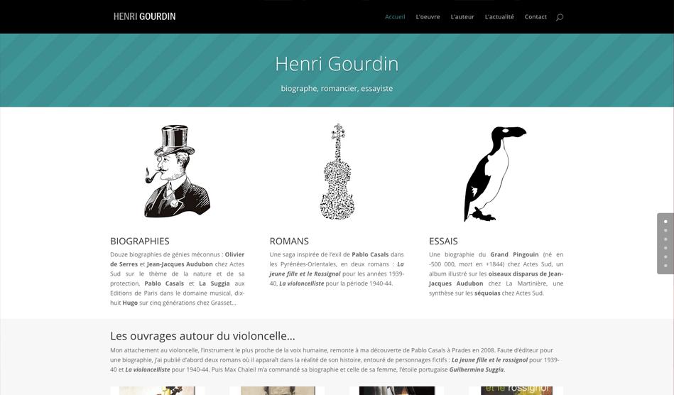 Site internet d'Henri Gourdin
