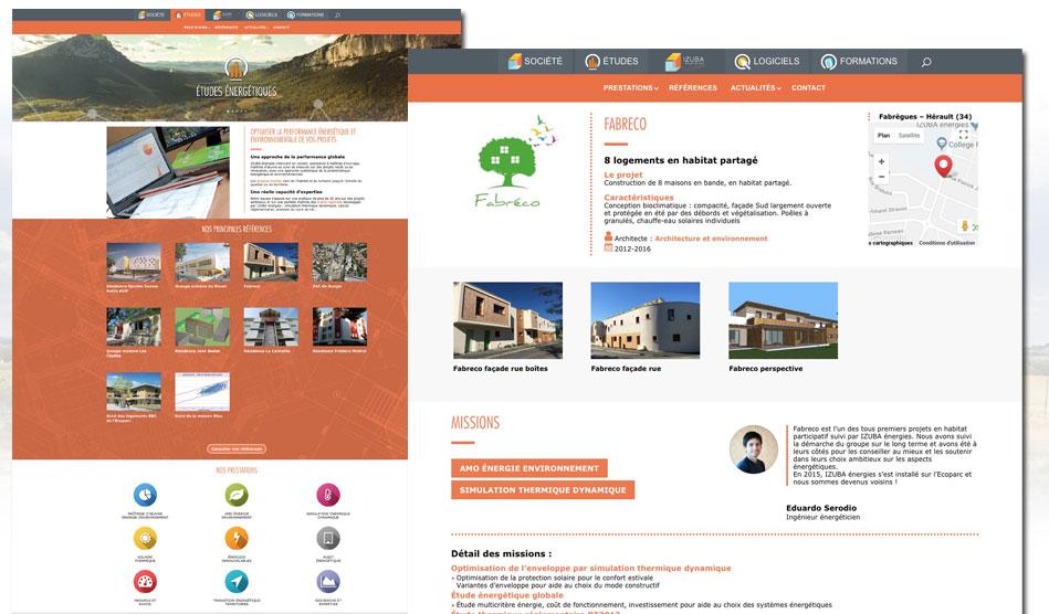 Pages Etudes du site d'Izuba énergies