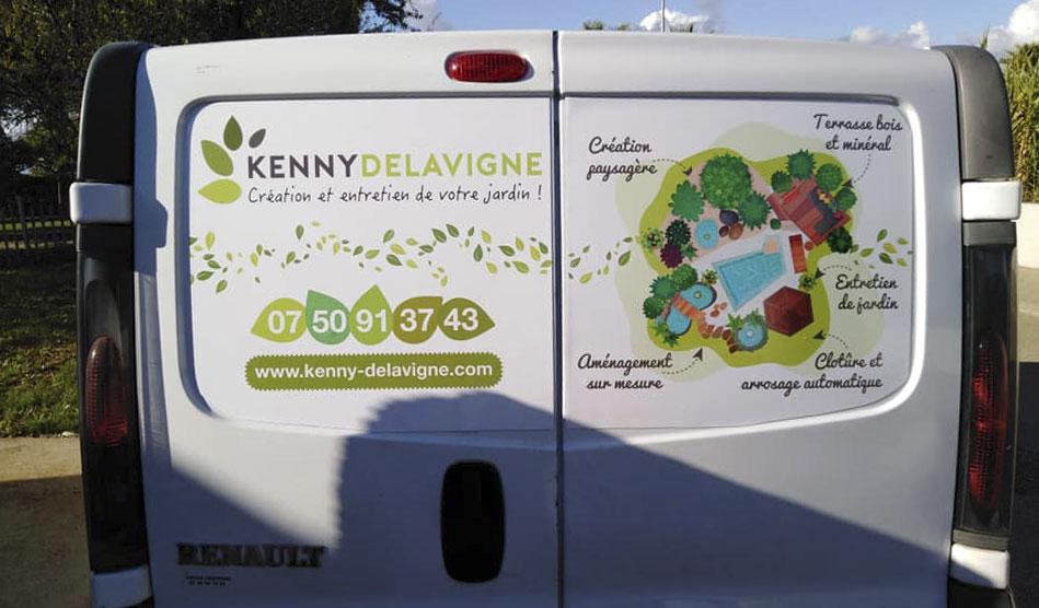 Plaques magnétiques arrières de Kenny Delavigne