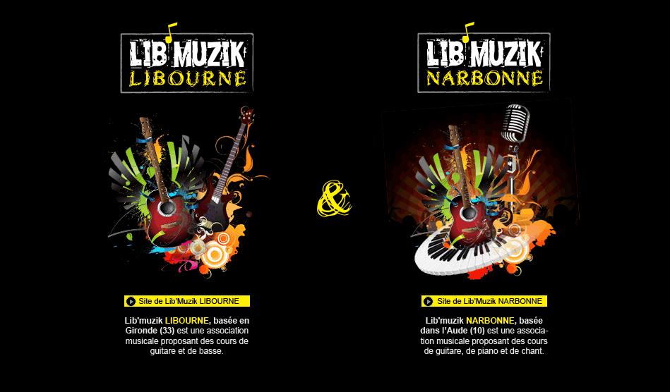 Site portail de Lib'Muzik