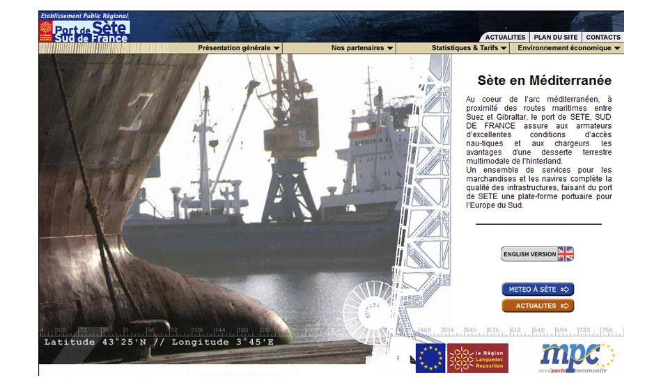 Site 2003 du Port de Sète