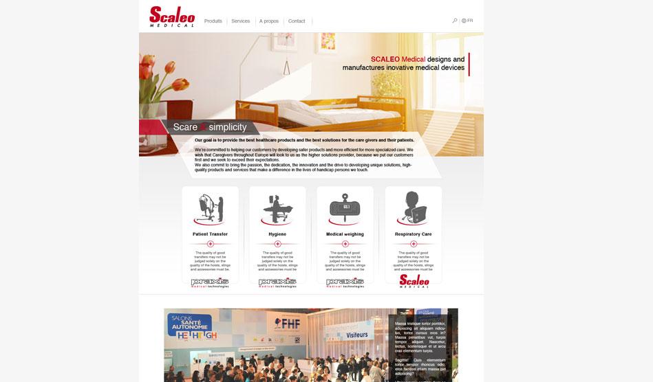 Page d'accueil du site de Scaleo