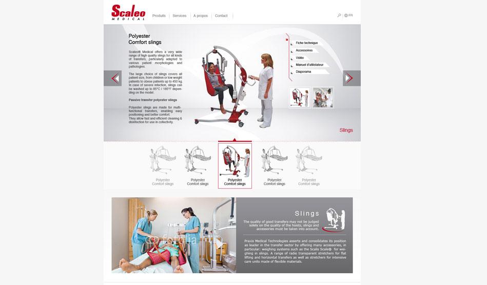 Page type détail d'un équipement médical du site de Scaleo