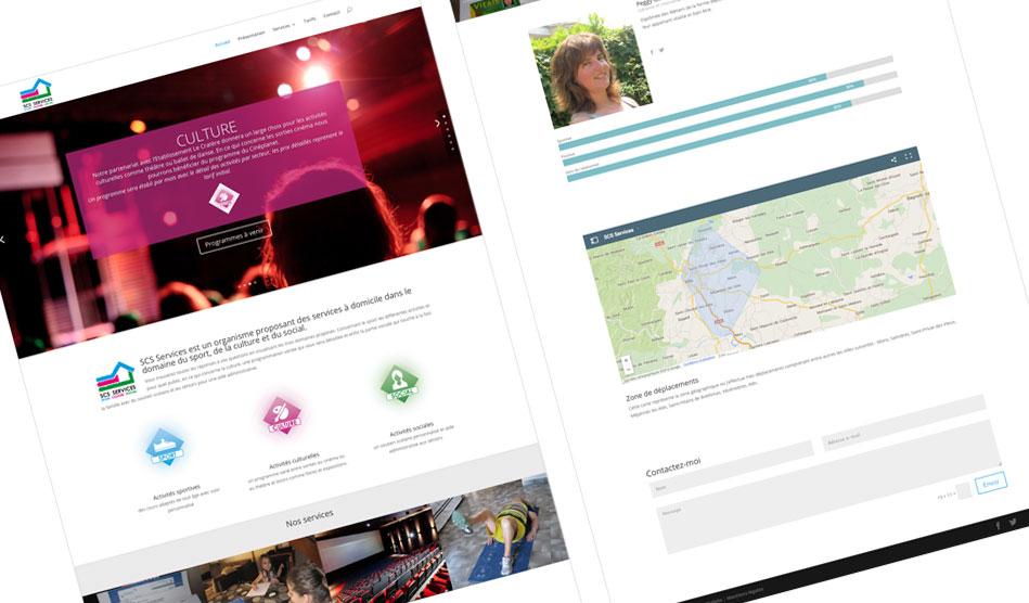 Site internet de SCS Services