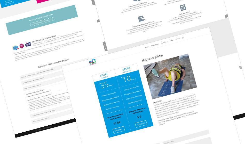 Pages du site de SCS Services