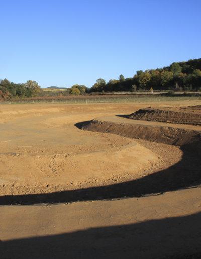 Photos du chantier de la station écologique de Belarga-Campagnan