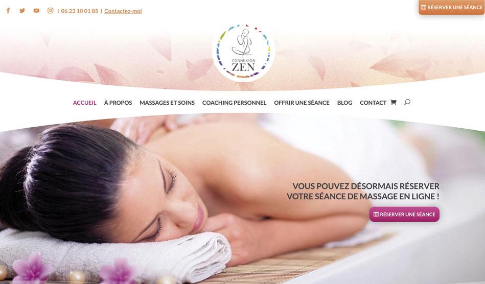 Page d'accueil du site Connexion-Zen