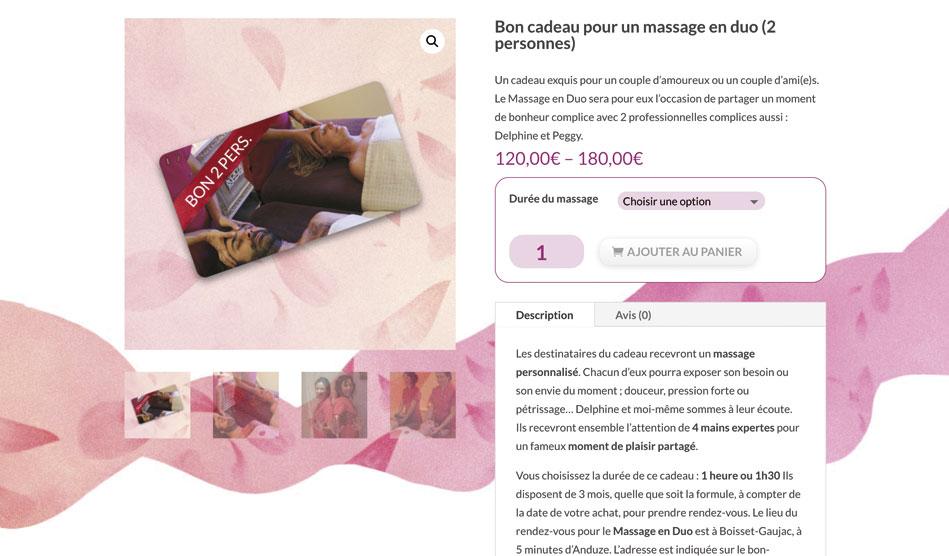 Boutique en ligne du site Connexion-Zen