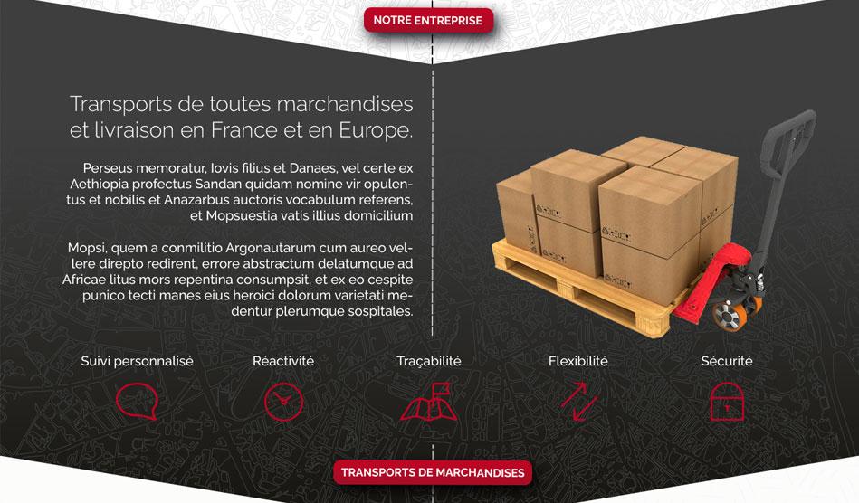 Détail d'une page du site de Transports Escapoulade