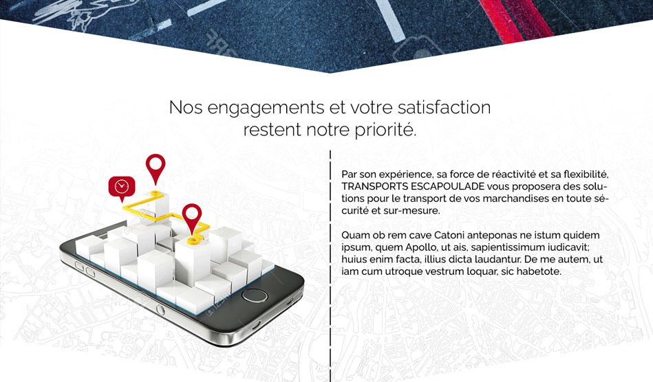 Edito de la page engagements du site de Transports Escapoulade
